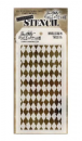 THS016 Stampers Anonymous Tim Holtz Layering Stencil - Harlequin